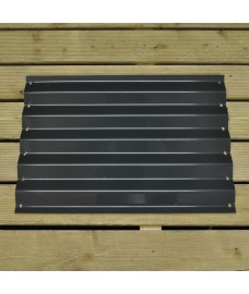 Side Panel for Metal Raised Bed Garden Planter in Dark Grey