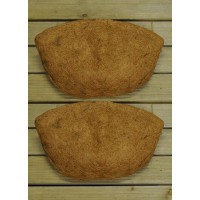 Pack of 2 Coco Wall Basket Planter Liner (50cm)