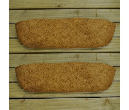 Pack of 2 Coco Wall Trough Planter Liner (75cm)