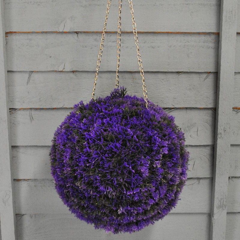 Factory Second - Purple Heather Effect Artificial Topiary Ball (26cm)