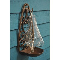 Thunder Glass Barometer with Cast Iron Mount by Fallen Fruits