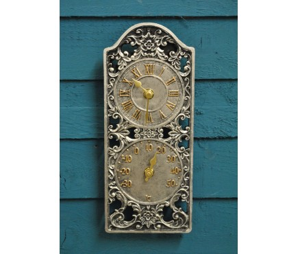 Westminster Wall Clock & Thermometer by Smart Garden