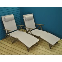Set Of 2 Havana Sun Loungers