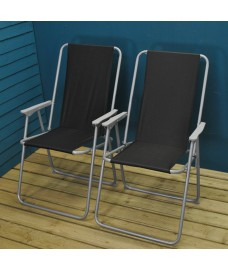 Set of 2 Folding Garden Furniture Set Chairs