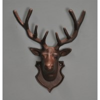 Cast Iron Wall Mounted Stag Head With Antlers by Fallen Fruits