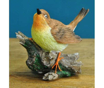 Robin on a Branch Garden Ornament