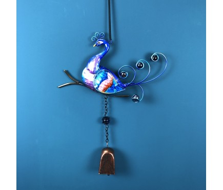 Peacock Bell Hanging Ornament