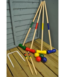 Wooden Croquet Game for 4 Players - Damaged Box Stock