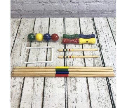 Wooden Croquet Game for 4 Players