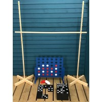 Wooden Garden Games Collection (Limbo, Dominoes and Four in a Row)