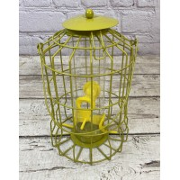 Hanging Squirrel Proof Seed Bird Feeder Vibrant Yellow
