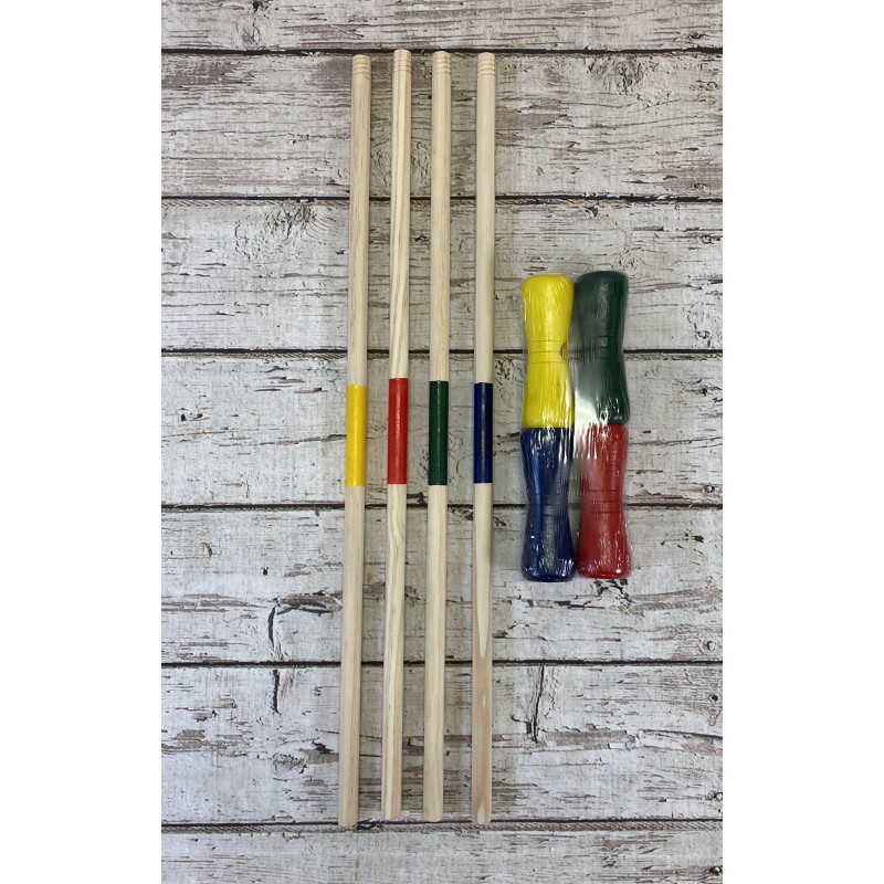 Pack of 4 Croquet Mallets