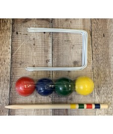 Pack of 4 Croquet Balls and Hoops