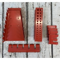 Red Accessories Hanger Pack for Metal Tool Storage Peg Board GFK062