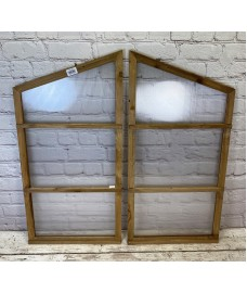 Pair of Side Panel for Wooden Mini Growhouse (Wooden Frame and Polycarbonate)