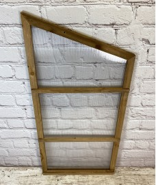 Right Hand Side Panel for Wooden Mini Growhouse (Wooden Frame and Polycarbonate)