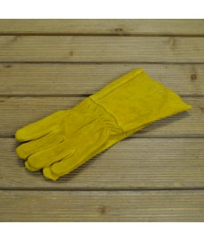 Heat Resistant Leather Gauntlet Fire Side and Gardening Gloves by Garden Trading