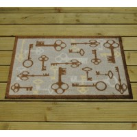 Cross Keys Rubber Backed Cotton Doormat by Gardman