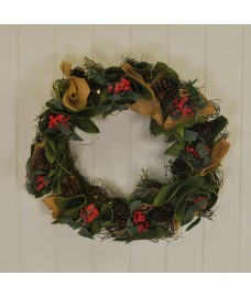 Pre-lit LED 50cm Festive Christmas Wreath by Gardman