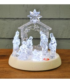Musical Lit Nativity Scene (Battery) by Premier