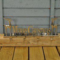 Merry Christmas Metal 4 Hook Stocking Hanger by Premier