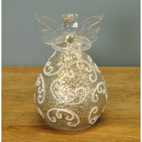 Glass Angel Christmas Bauble (12cm) by Premier
