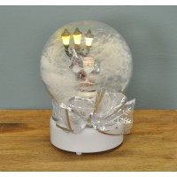 19cm Musical Christmas Air Blown Snow Globe with Light by Premier