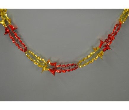 Red and Gold Christmas Foil Hanging Garland Decoration (2.7m) by Premier