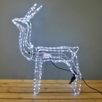 Animated Reindeer Free Standing Rope Light (102cm) by Premier