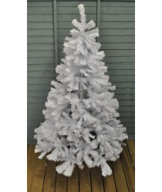 6ft (180cm) Deluxe White Pine Artificial Christmas Tree (749 tips) by Kingfisher