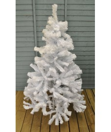 5ft (150cm) Deluxe White Pine Artificial Christmas Tree (445 tips) by Kingfisher