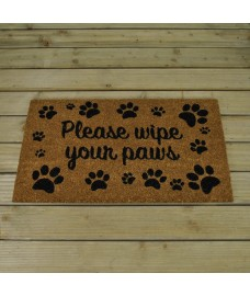 Please Wipe Your Paws Coir Doormat by Smart Solar