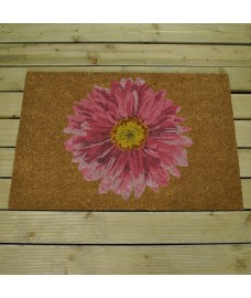 Gerbera Design Coir Doormat by Smart Solar