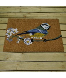 Blue Tit Design Coir Doormat by Smart Solar