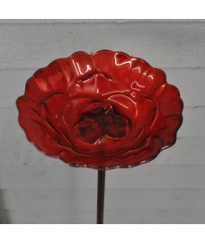 Glass Rose Dish Design Wild Bird Feeder Chapel Wood