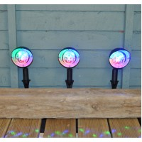 Set of Three Disco Ball Path Lights by Premier