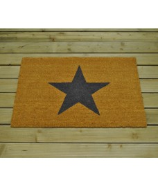 Large Star Design (90cm x 60cm) Coir Doormat by Garden Trading