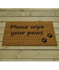 Please Wipe Your Paws Coir Doormat by Gardman