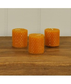 Real Beeswax Candles (Set of 3) by Fallen Fruits