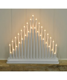 Christmas Modern Candle Bridge (Mains Powered) by Kingfisher