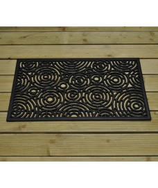 Circles Design Rubber Doormat by Gardman