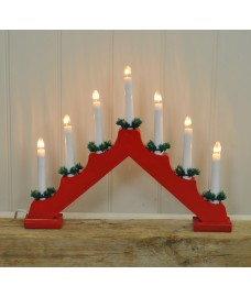 Christmas 7 Light Candle Bridge (Mains Powered) by Kingfisher