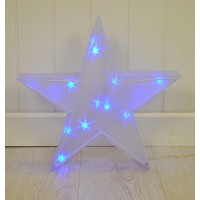 Christmas Star Light 3D in White or Blue