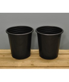 Round Plastic 28cm Tomato Pots (Set of 2) by Kingfisher