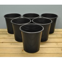 Round Plastic 28cm Tomato Pots (Set of 6) by Kingfisher