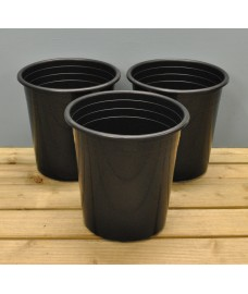 Round Plastic 28cm Tomato Pots (Set of 3) by Kingfisher