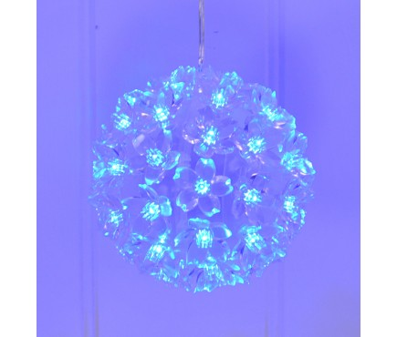 Christmas Winter Blue Multi Action LED Snowball Light by Kingfisher