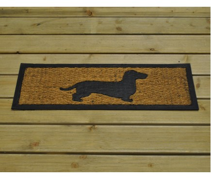 Long Dog Coir & Rubber Doormat by Fallen Fruits