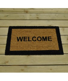 Welcome Design Coir Doormat by Kingfisher