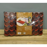 Plastic Seed and Cutting Tray With 40 Pots (6cm) by Garland